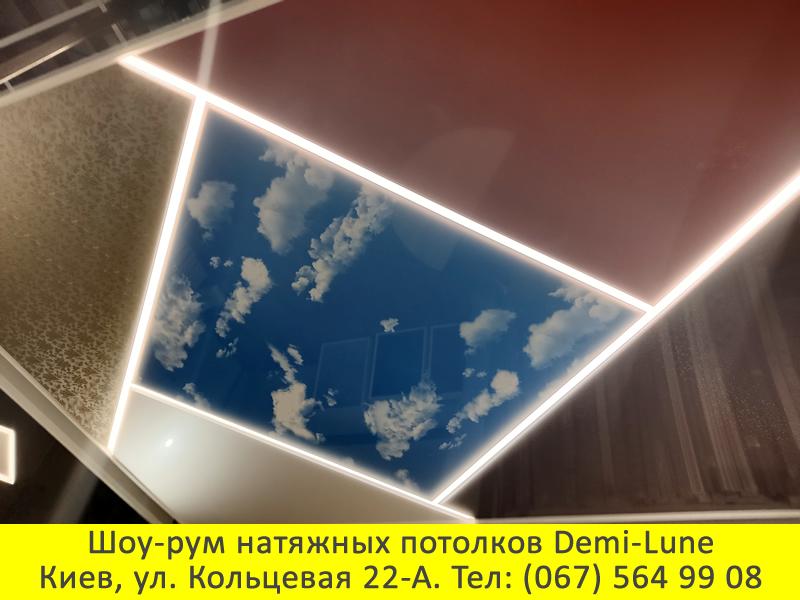 Натяжные потолки парящие линии Киев от Деми-Луне