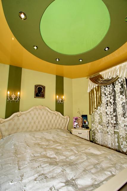 Натяжные потолки DEMI-LUNE. Спальня