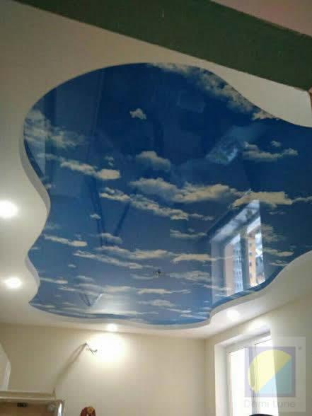 Натяжные потолки с фотопечатью. Небо с облаками в Киеве