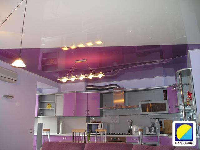Французские натяжные потолки на кухне